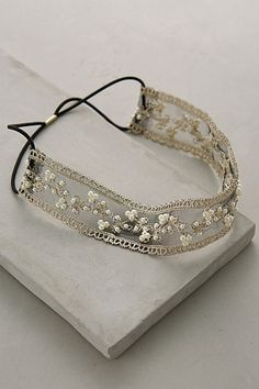 Pearled Vinea Headband #anthropologie