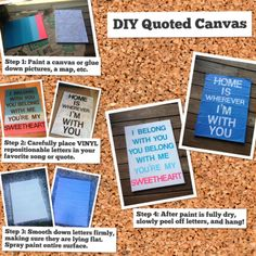 DIY Quoted Canvas #diy #canvas #quotes #crafts topknotsandpolkadots.wordpress.com