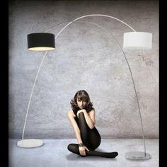 DESIGN BOGENLAMPE von DESIGN DELIGHTS lounge stehlampe schwanenhals lampe schwarz Bogenleuchte: Amazon.de: Küche & Haushalt