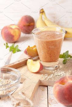 peach smoothie by natashamam on @creativemarket