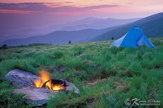 Round Bald of the Roan Mountain Highlands in Pisgah National Forest, North Carolina. The Appalachian Trail.