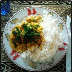 Curry di pollo con zenzero e latte di cocco   Porzione Singola