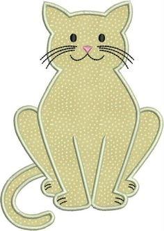 Kitty cat kitten machine embroidery applique designs by hanayu Cat Applique, Applique Templates, Machine Embroidery Applique, Applique Quilts, Machine Quilting, Embroidery Ideas, Cat Quilt Patterns, Applique Patterns, Applique Designs