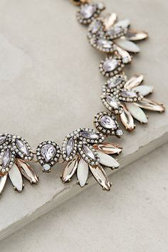 Lavande Bib Necklace by BaubleBar Anthropologie #anthrofave