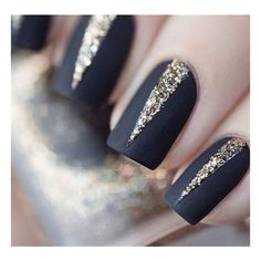 15 Eye-catching Glitter Nail Art designs ❤ liked on Polyvore featuring beauty products, nail care and nail treatments