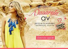 Alejandra Valdivieso y HossH en pasarela. Corazón de la moda. Jueves 18 de septiembre de 2014. Neomundo, Bucaramanga. #MeEncantaAV