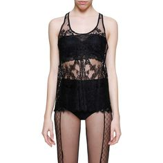 HAIDER ACKERMANN Cotton lace 'Beaulieu' tank top ($440) ❤ liked on Polyvore featuring tops, cotton tank tops, cotton singlet, lace tops, cotton lace top and lace tank tops