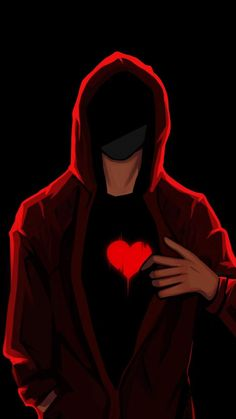 Hoodie Guy with Heart - iPhone Wallpapers