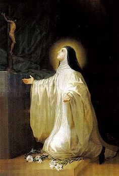 St. Lutgardis - She ended up in a convent because her family didn't have a dowry. She grew in faith... and became a mystic.