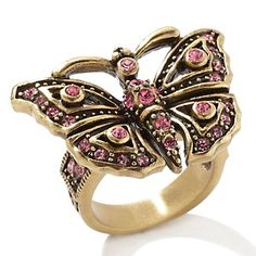 "Heidi Daus ""Monarch Madness"" Crystal-Accented Ring -- Poss one of my 1st purchase (Robin)"