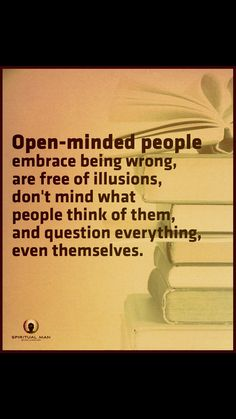 Embrace open mind