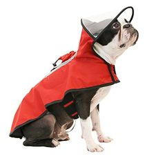 RC Pet Products Packable Dog Rain Poncho Medium Rubber Ducky