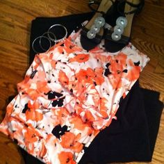 NWOT 3X floral top - great for work or play FiNALMARKDOWN Fun, flirty and feminine!! This top is silky soft and looks great with pants, a skirt or shorts which means it's perfect for work or play ....add a cardigan or jacket for cooler days. It's a deep peachy orange poppy flower with white background and black accents. Fabulous addition to any plus-size goddess' closet!! Tops