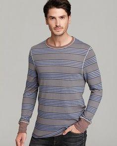 ALTERNATIVE Passbook Stripe Long Sleeve Tee on shopstyle.com