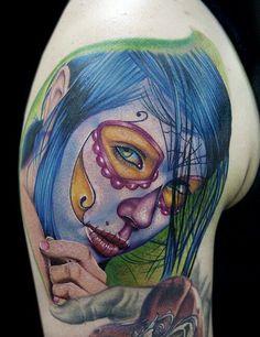 skull/dawn of the dead tats on Pinterest | Rockabilly pin up Girl ...