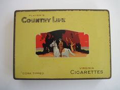 Excited to share the latest addition to my #etsy shop: 150 Players Country Life cigarette tin by W D & H O WIlls (Australia) http://etsy.me/2C7kspR #vintage #collectables #cigarettetins #tobaccocollectibles