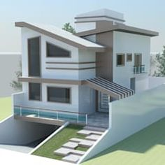 The exterior is the face of the house that everyone will see in the first part. Take a look at the world's most beautiful modern homes and find House Outside Design, House Front Design, Modern House Design, Modern House Facades, Modern Architecture, Modern Houses, Home Building Design, Building A House, House Construction Plan
