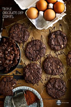 Triple chocolate cookies – need we say more? Learn how to make these on our blog! In a season full of sweets, set a new standard with these decadent beauties that are sure to stand out. We see ourselves baking these all-year long!