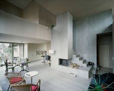 fireplace stairs combination - House Müller Gritsch / AFGH scan17 – ArchDaily