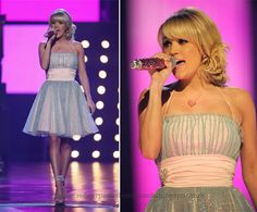 Carrie Underwood in a Betsey Johnson dress.