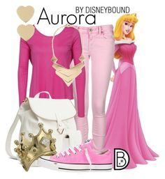 """""""Aurora"""" by leslieakay ❤ liked on Polyvore featuring Replay, Vero Moda, H&M, Disney Couture, Converse, MANGO and Kate Spade"""