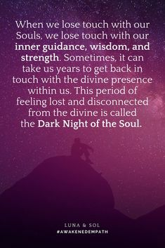 Soul loss, dark night of the soul, emptiness, overwhelming sensitivity ... get help now ...