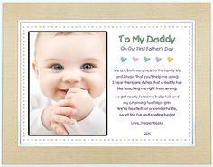 1st Father's Day Gift for Daddy from Son or by PoetryGifts on Etsy, $29.99