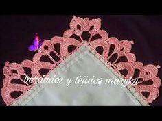 Crochet Flower Tutorial, Crochet Lace Edging, Crochet Borders, Crochet Squares, Crochet Doilies, Crochet Flowers, Fabric Flowers, Crochet Stitches, Crochet 101