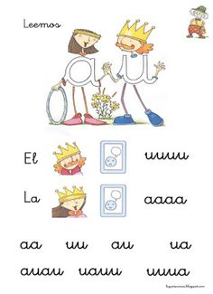 LEARNING IS FUN!: FICHAS DE LECTURA LETRILANDIA Activities For Kids, Alphabet, Spanish, Homeschool, Language, Teacher, Motivation, Comics, Learning