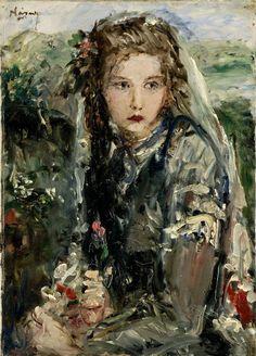 Náray Aurél – Donna con rose