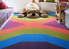 FLOR carpet tiles kids room playroom pattern