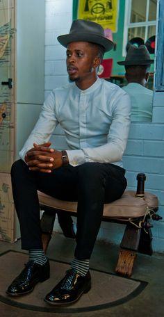 BoysofSoweto Fashion Group, Men's Fashion, African Fashion, Attitude, Captain Hat, Vogue, Socks, How To Wear, Stuff To Buy