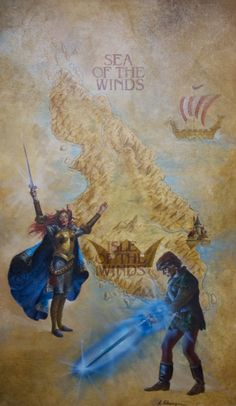 Larry Schwinger - Used for the 1985 Del Rey edition of Castle of Wizardry, book 4 by David Eddings Belgariad series. This painting was also reused for the 2002 Del Rey omnibus edition The Belgariad Volume 2 (Castles of Wizardry & Enchanters' End Game)