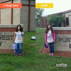 On the left 1st day of 3rd grade on the right 1st day of 4th grade