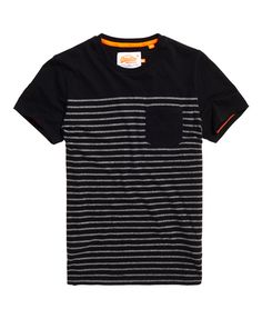 Superdry Solent Stripe Pocket T-shirt Shirt Logo Design, Shirt Designs, Denim T Shirt, Tee Shirts, Harley Apparel, Play Mate, Camisa Polo, Casual Shirts For Men, Printed Shirts