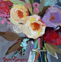 still life paintings - paintings by erin fitzhugh gregory - reminds me of my artist niece! Art Floral, Acrylic Flowers, Paintings I Love, Painting Inspiration, Flower Art, Cool Art, Art Projects, Canvas Art, Fine Art