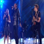 """John Legend, Jennifer Nettles and Hunter Hayes preform """"All Of Me"""". It is just amazing! Pay attention to the amazing performance and the beautiful music but also pay attention to the glistening of tears in Jason Aldean's eyes. It is beautiful!"""