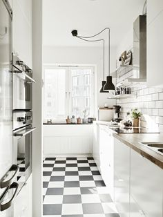 Classic black and white tile.