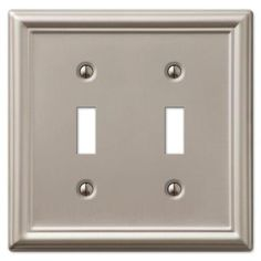 Hampton Bay Chelsea 2 Toggle Wall Plate - Nickel-149TTBNHB at The Home Depot