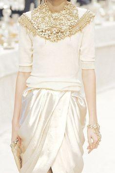 kurkova:  Chanel Haute Couture 2012