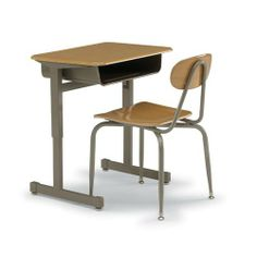 "20""D x 27""W x 22""-30""H Silhouette Student Desk - Wild Cherry/Black/Black by Smith System. $141.12. The Silhouette Desk is a great solution for traditional classrooms because of its elegant design, durability, and functionality. Its strong points are great stability and fast adjustability--its height can be changed with only two adjustments necessary. The Silhouette Desk also lets you choose between a durable high-pressure laminate top, or a hard plastic top.::Th..."