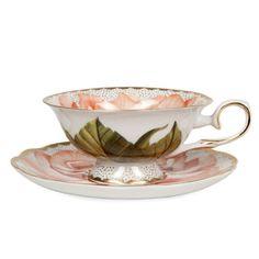 Rose Tea Mug and Saucer - Dinnerware - Tableware - United States of America