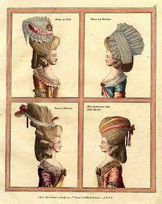 18th-century American Women: May 20101777 French fashion plate, http://b-womeninamericanhistory18.blogspot.com/ by Barbara Wells Sarudy