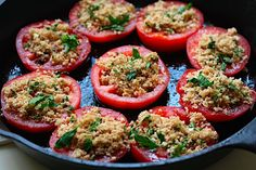 Baked Tomatoes with Whole Wheat Bread Crumbs and Thyme