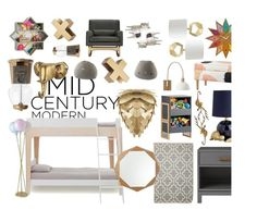 """""""Mid Century Modern Kid's Room"""" by yuniyaro ❤ liked on Polyvore featuring interior, interiors, interior design, home, home decor, interior decorating and modern"""