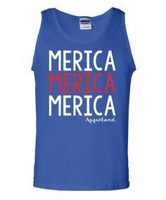 Texas A&M Aggies 'Merica Royal Tank Top