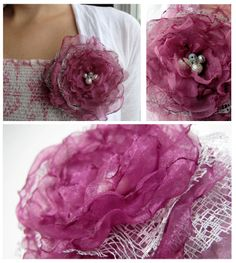 Happily, Becki: How to Make Organza Flowers