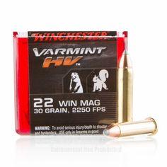 Winchester 22 WMR Ammo - 1000 Rounds of 30 Grain V-MAX Ammunition  #22WMR #22WMRAmmo #Winchester #WinchesterAmmo #Winchester22WMR #VMAX