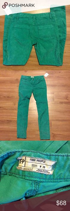 NWT FREE PEOPLE CORDUROY SKINNY PANTS NWT FREE PEOPLE CORDUROY SKINNY PANTS 31 inch inseam 💙 Free People Pants Skinny