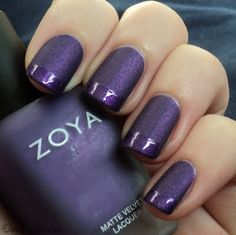 purple french mani